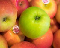 Snoep gezond eet een verse appel