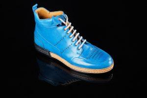 blauwe mannen schoen
