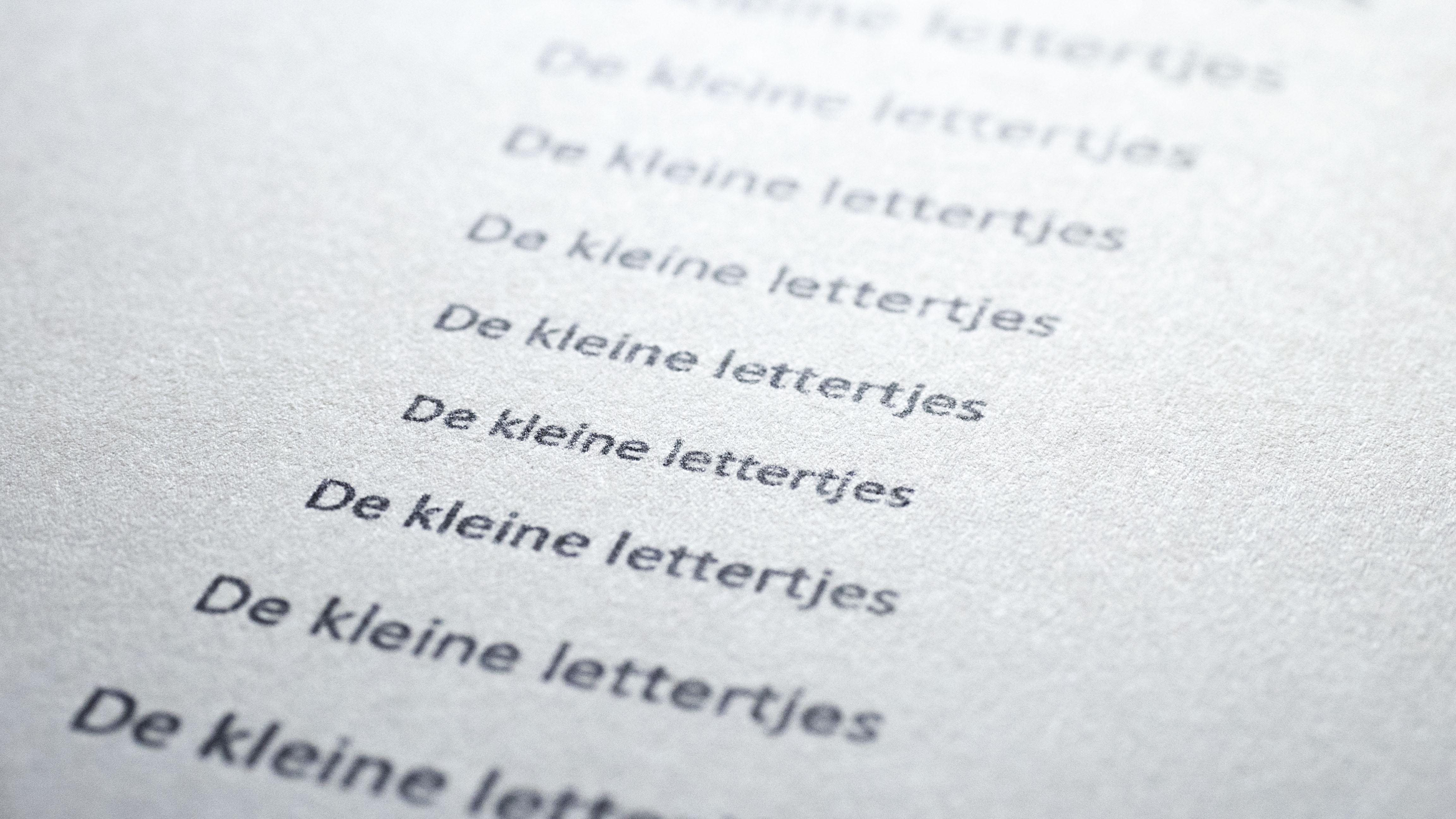 kleine lettertjes