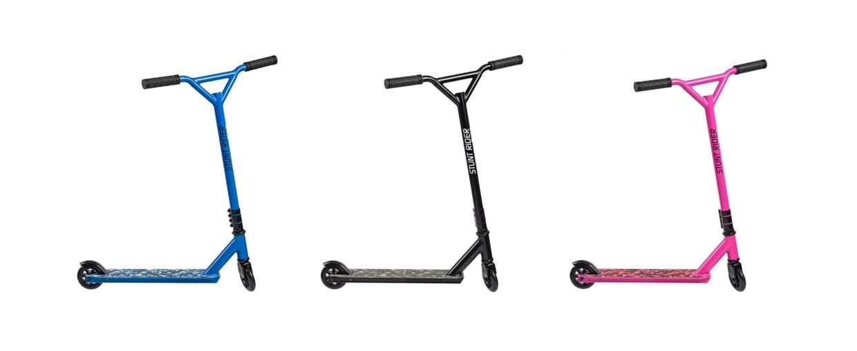 stepjes productfotografie, in blauwe, roze en zwarte kleur